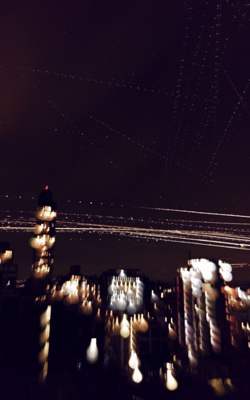 Air Traffic Light Trails over NYC