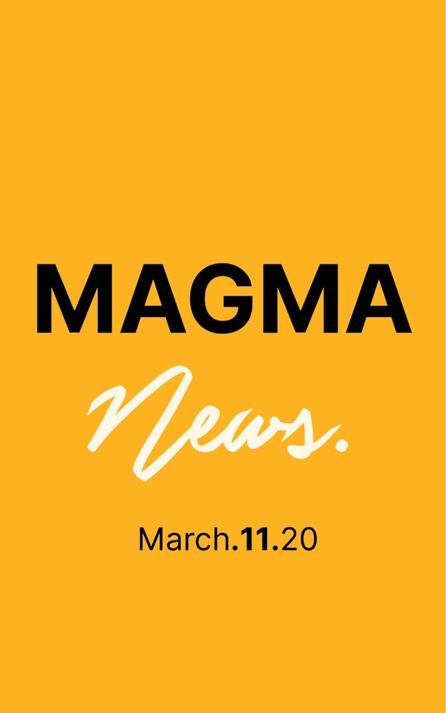 Magma News| March 11, 2020  -Climate change attacks the coral reefs -Tesla Invests back into its super fans. -Market Watch -The Coronavirus Pandemic in the US  -Harvey Weinstein is Sentenced.  Check back every Monday, Wednesday & Friday.