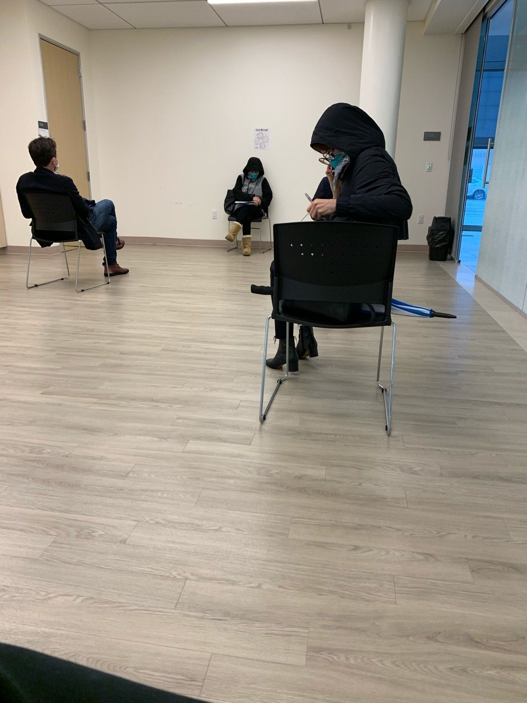 The waiting room to get tested