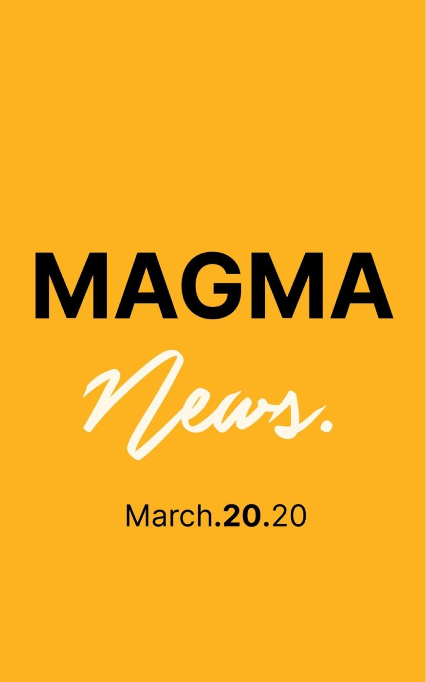 Magma News | March 20, 2020  -Coronavirus Update -Tax Day moved to July 15 -General Motors Shfits production to Medical supplies. -Californians Can Still Surf During Stay-At-Home Order, But Should They? -Coronavirus could change movie distribution model. -Tom Brady Signs With Tampa Bay. -US Tourists Stranded Abroad. Check back every Monday, Wednesday & Friday