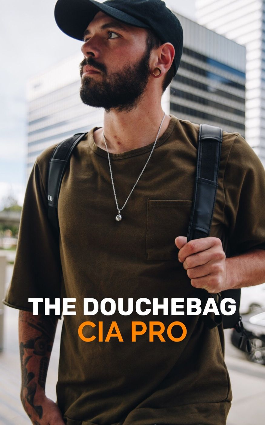 A closer look to my favorite bag. The CIA PRO Douchebag