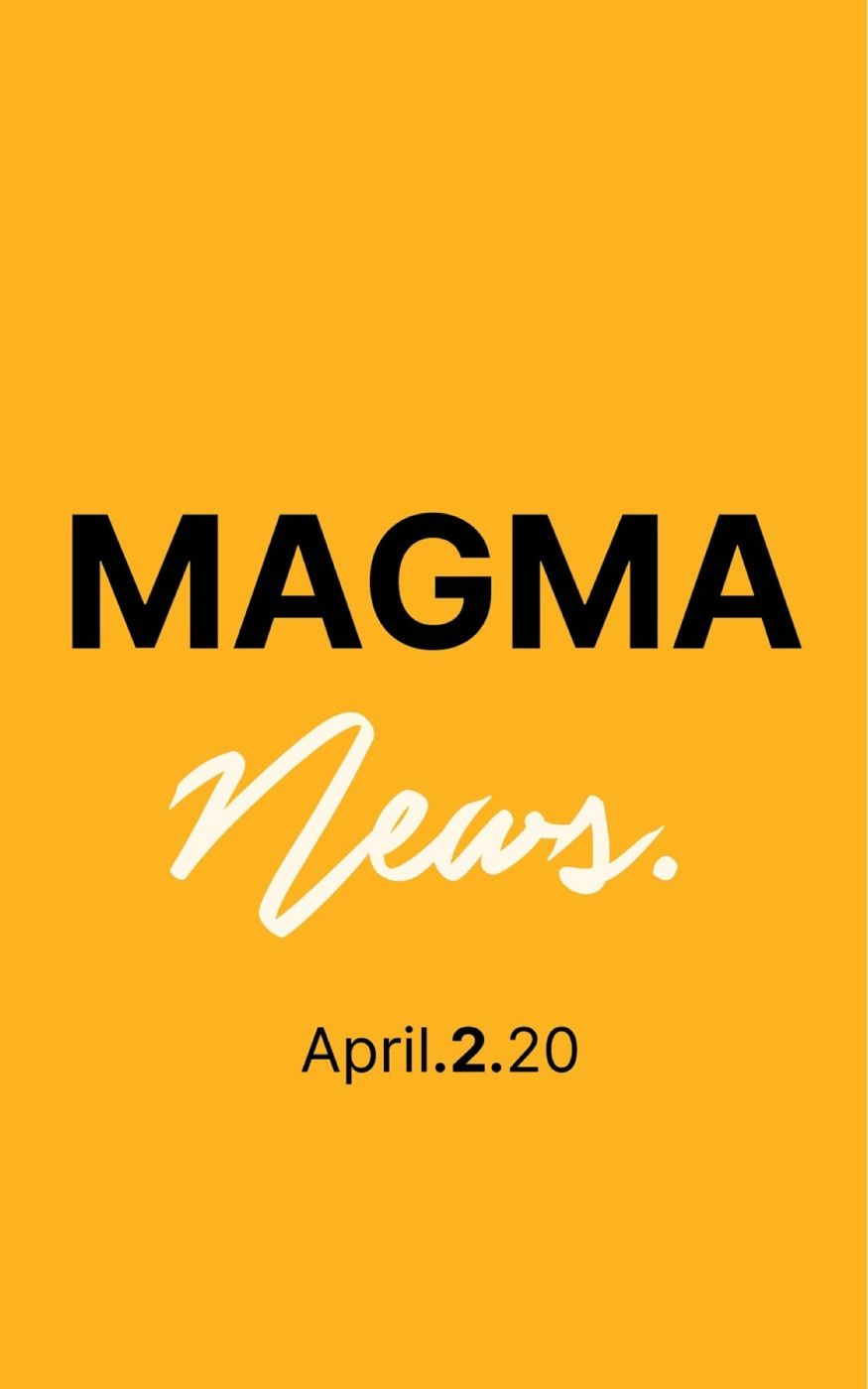 Magma News | April 2, 2020  - There are now officially 1 Million coronavirus cases. - How helpful are Facemasks? - Trump has invoked Defese Production Act for Ventilators - Apple May be releasing a new iPhone this month - Meet the Peloton trainer helping the worlds best athletes stay in shape during quarantine. - Zoom conferencing reaches 200 million daily active users.