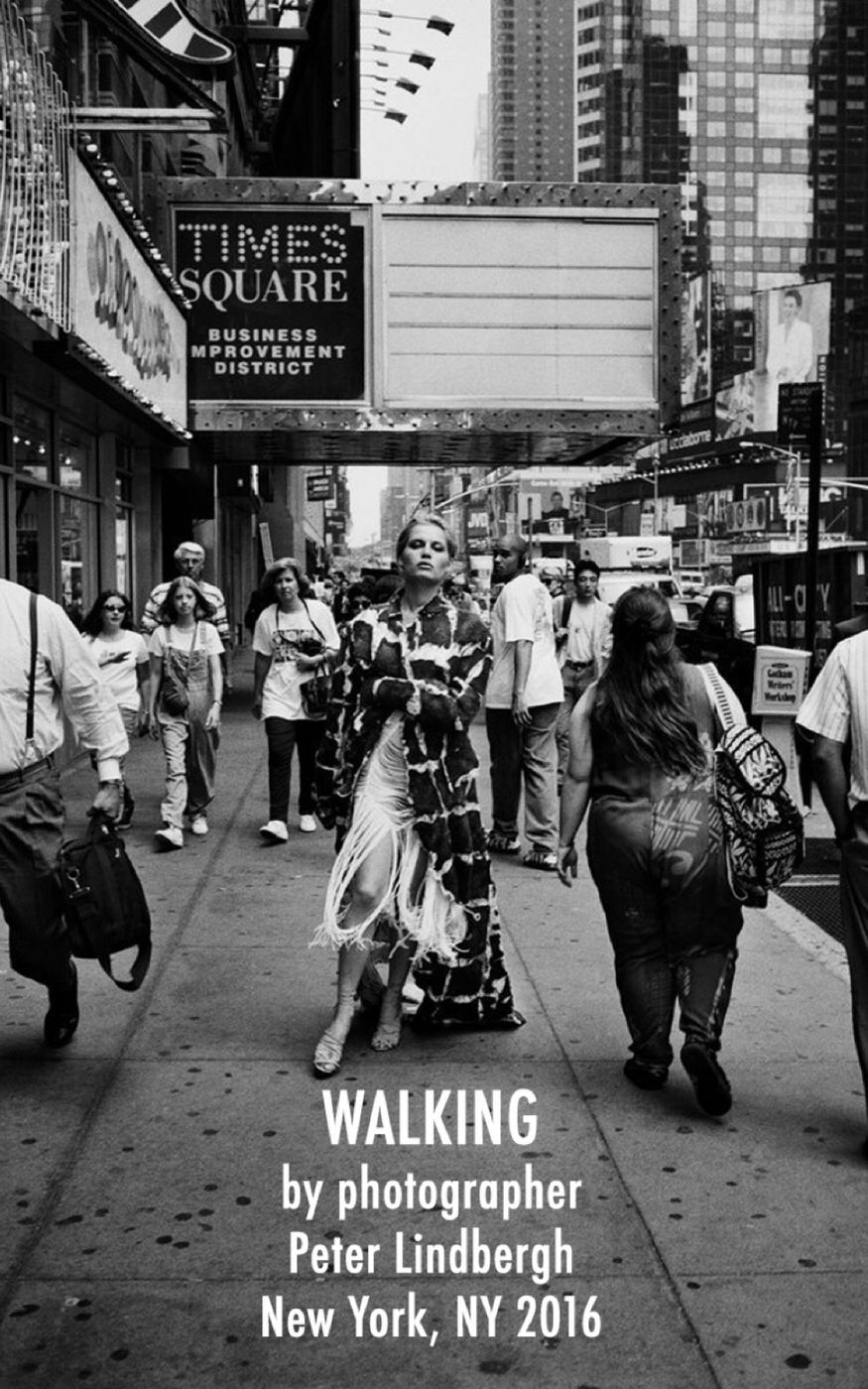 WALKING by photographer Peter Lindbergh first featured in Vogue Italia October, 2016.