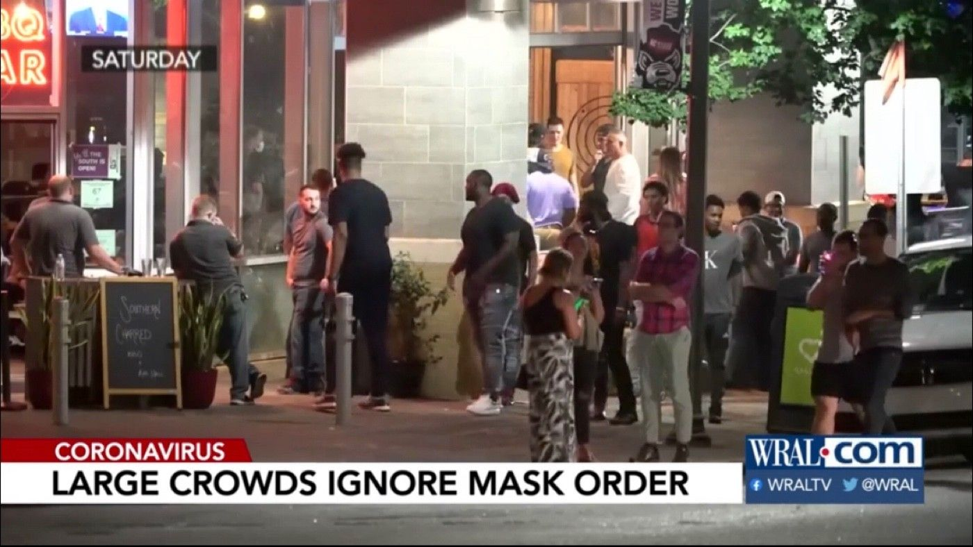 Crowds ignore mask order on Glenwood South over weekend