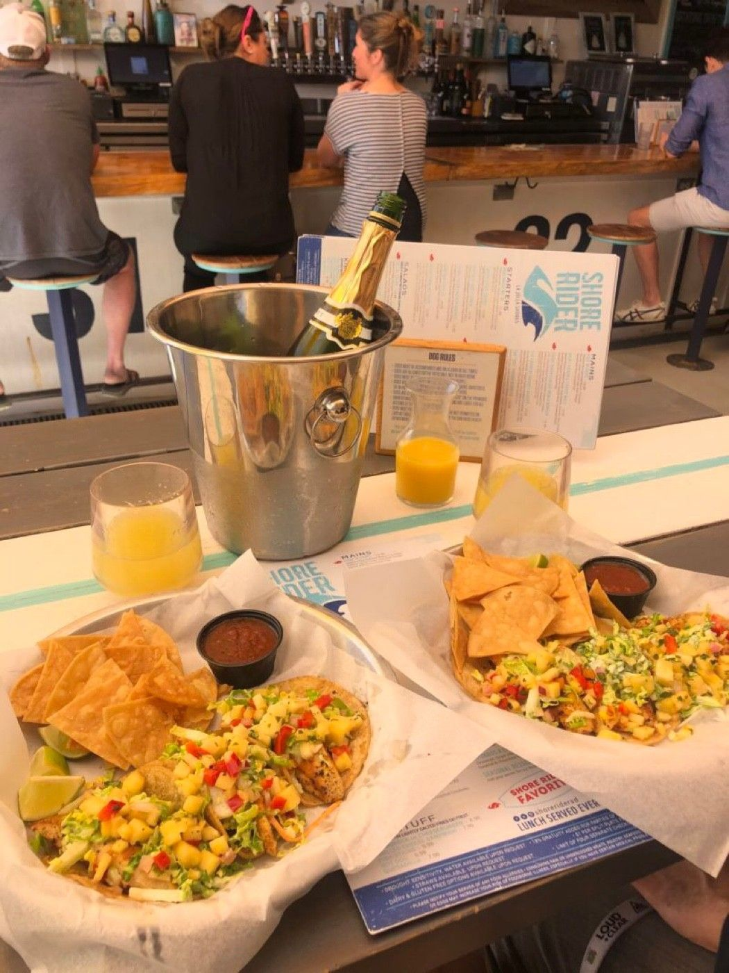 Mimosa Brunch at the Shore Rider!