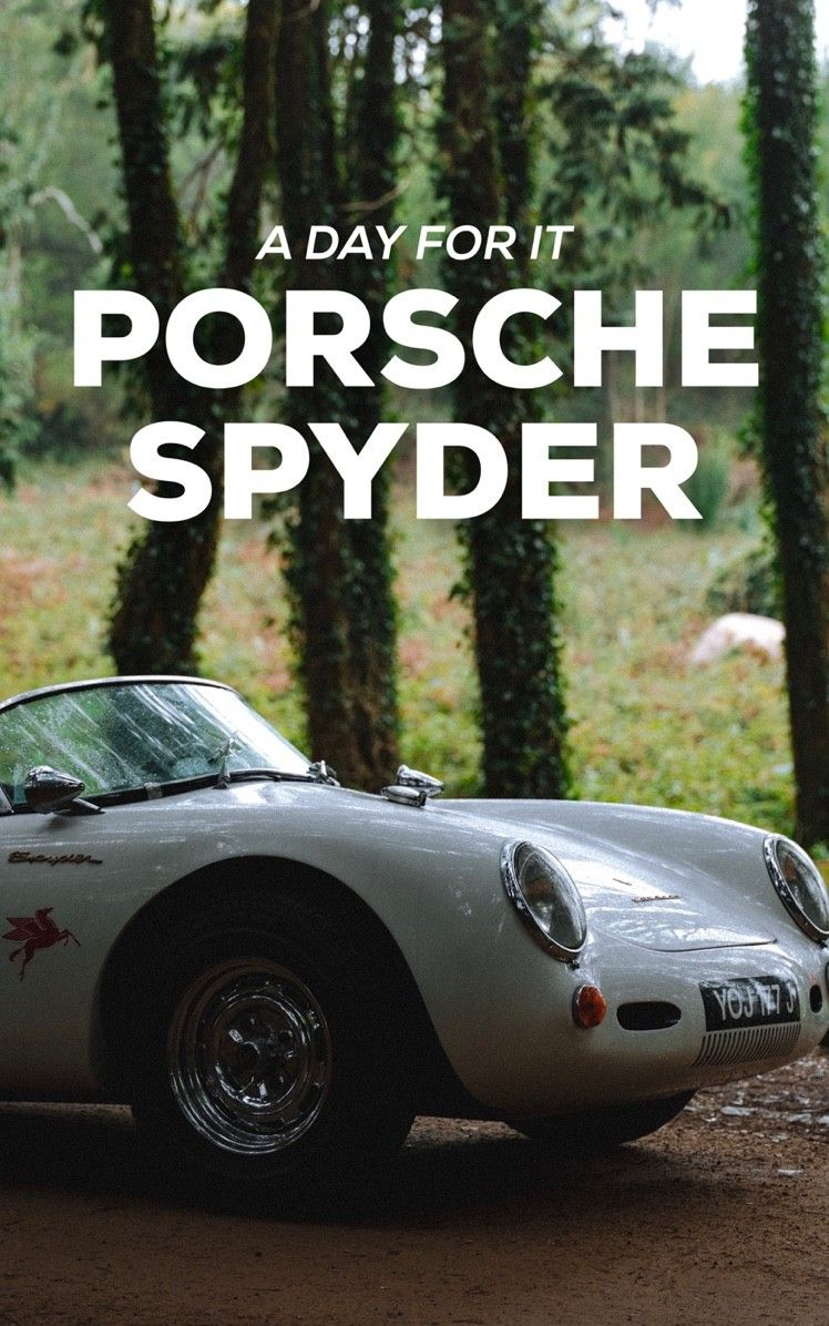 A dream came true of having an open range day with the Porsche Spyder.