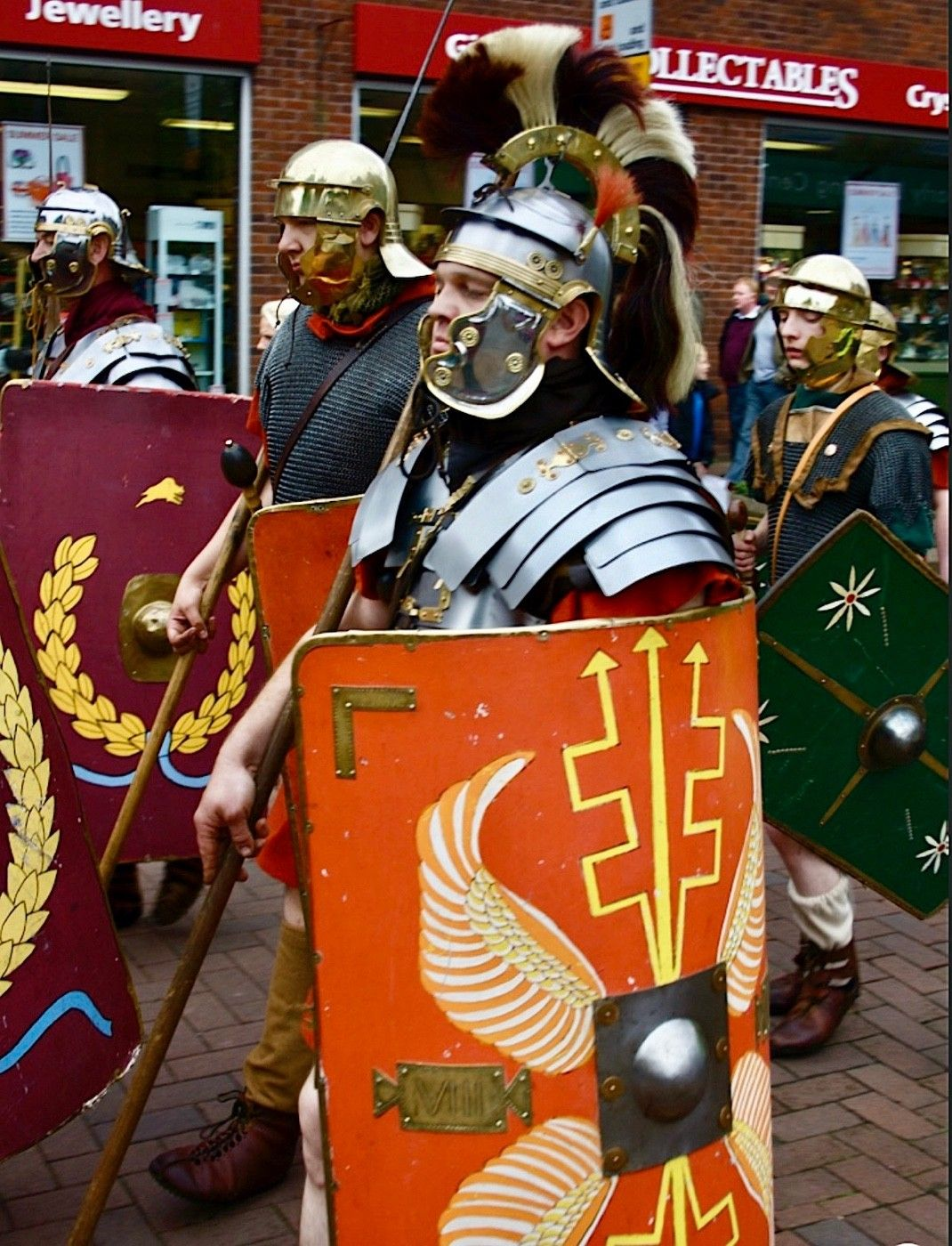 When we got to Carlisle it was Roman Day! The streets were full of Centurions!
