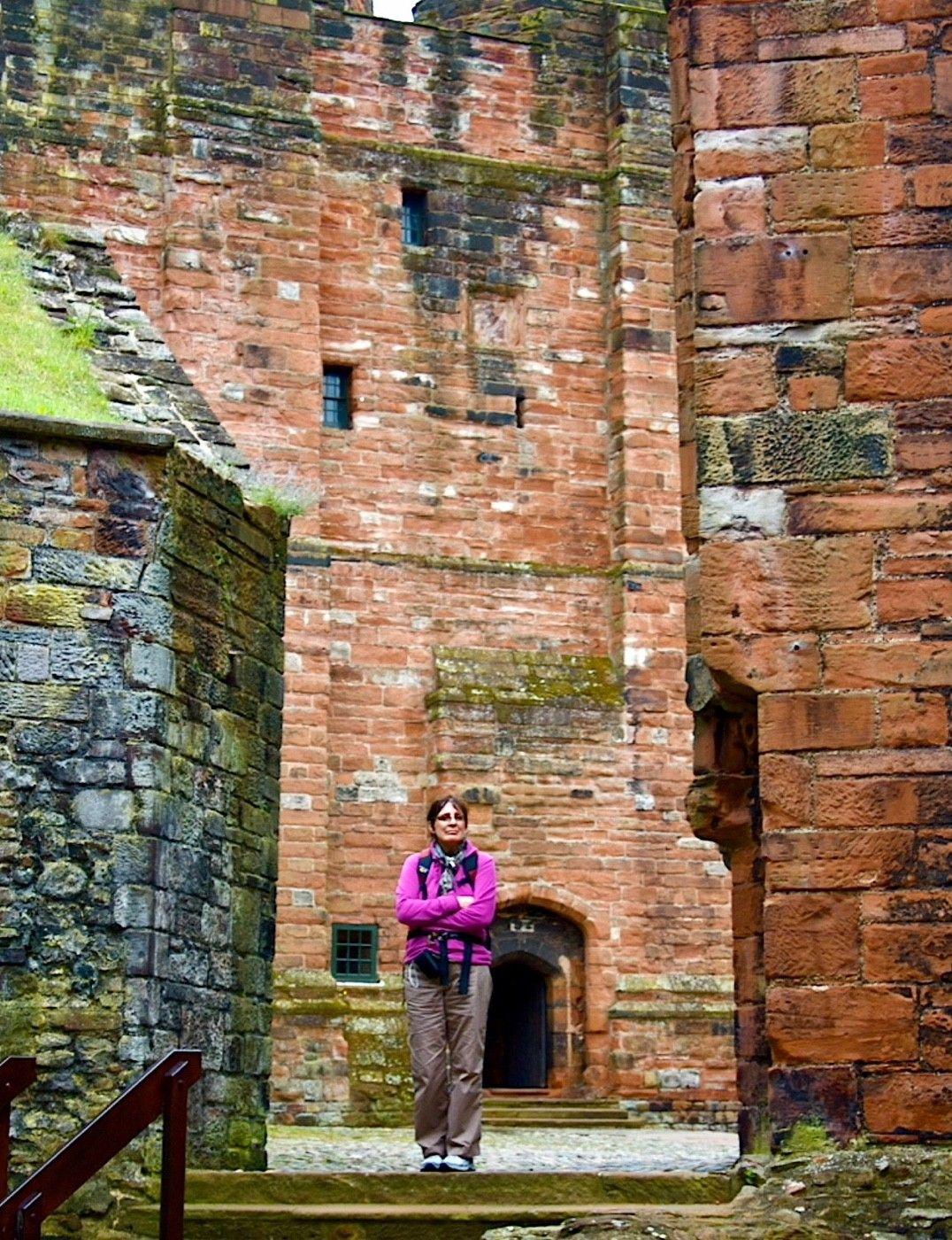 Susan at Carlisle Castle.
