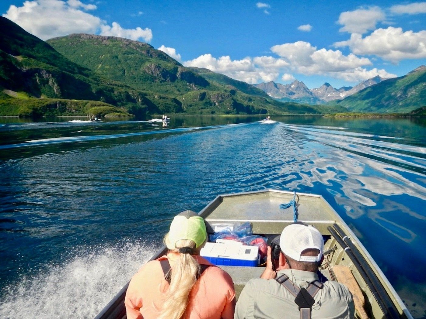 Running Lake Kulik.