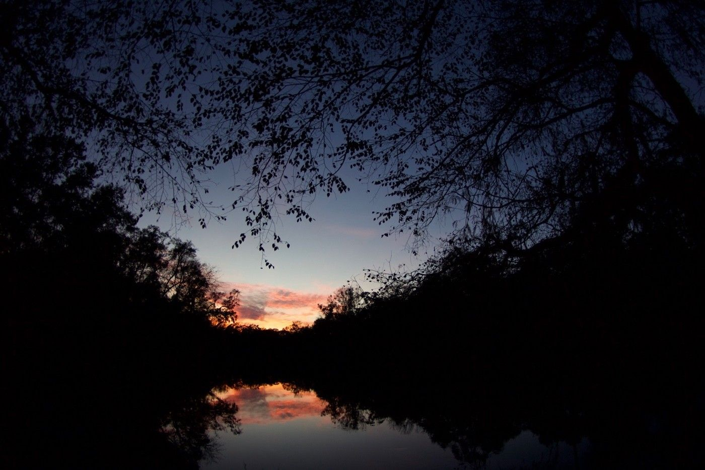 Night falls on the Suwannee River.