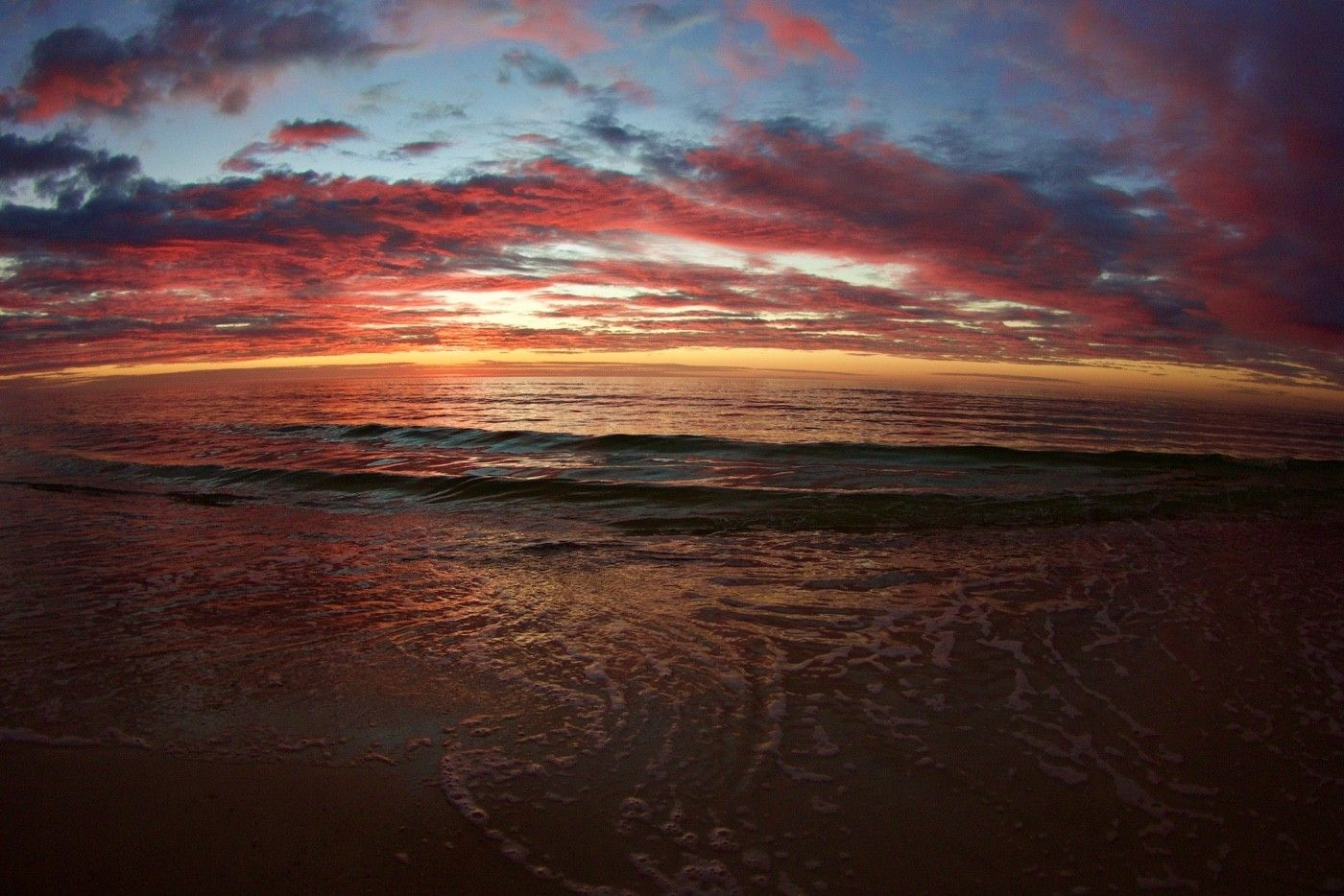Sun rise over the Gulf of Mexico from St. George Island.