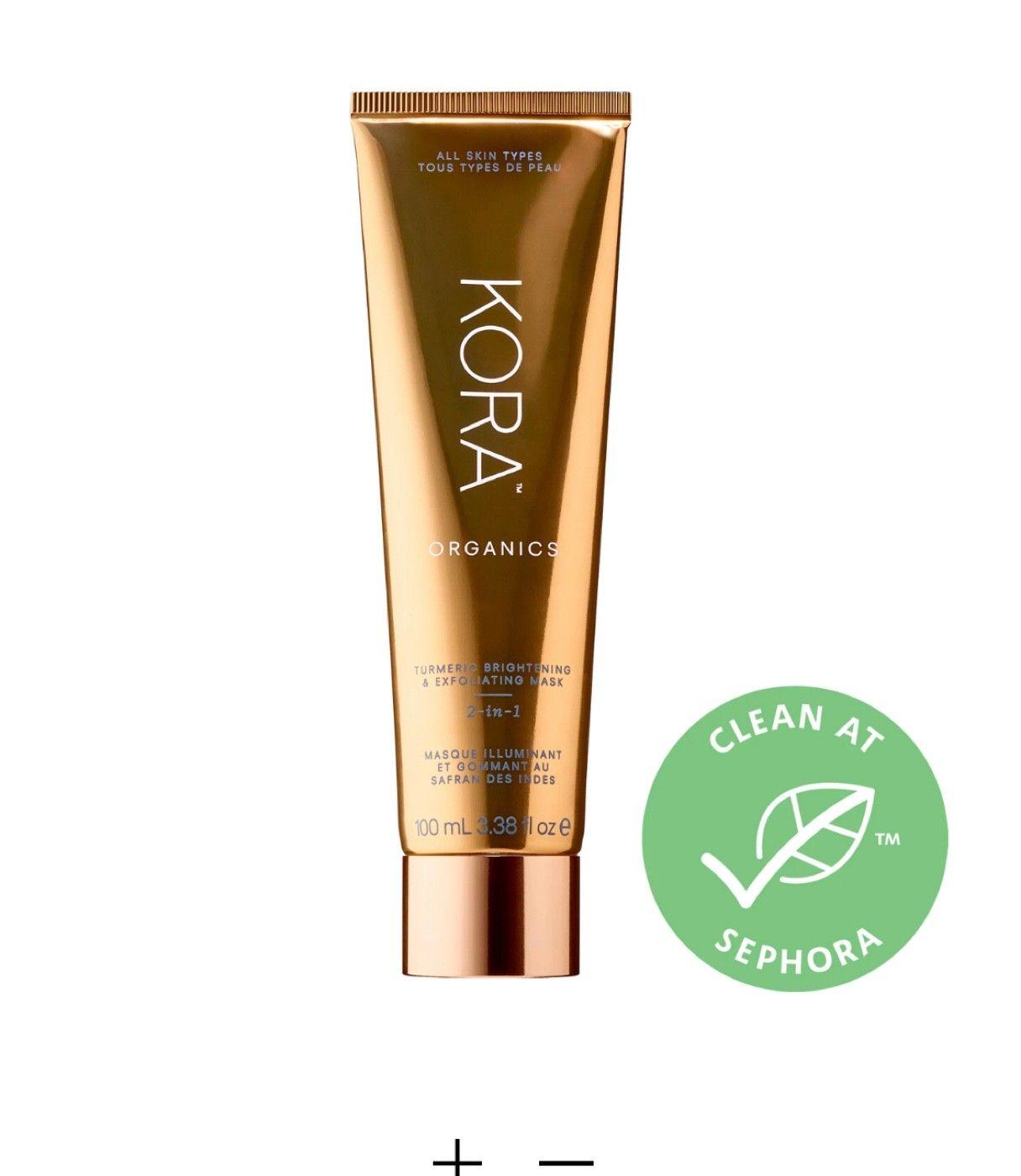 Kora Organics turmeric brightening and exfoliating mask