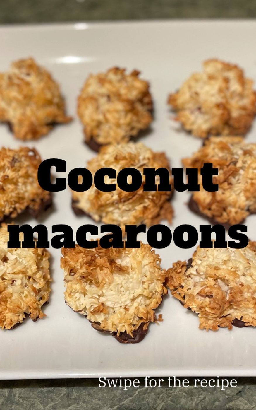 Easy Coconut macaroon recipe for Passover!