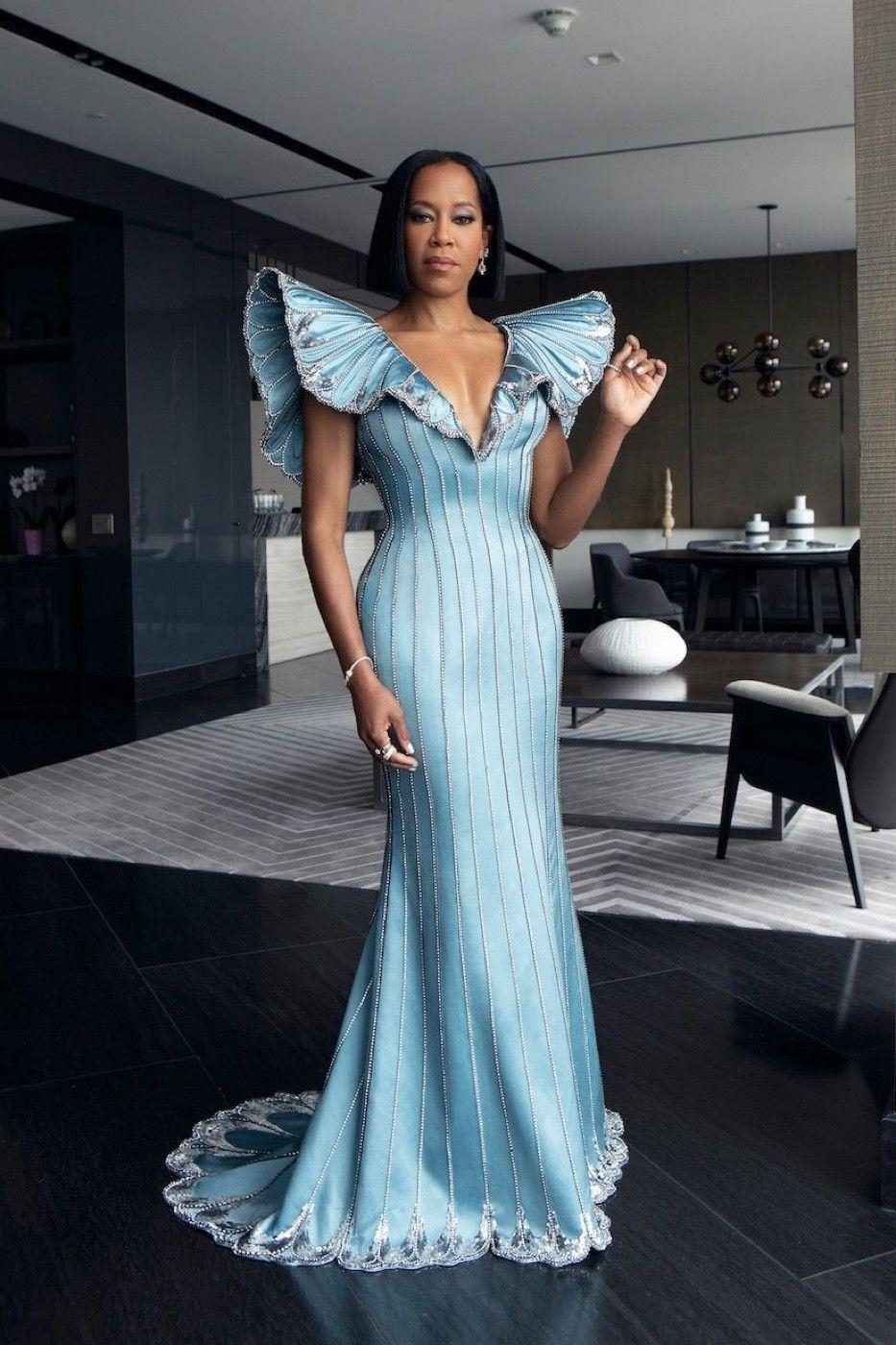 Regina King shutting it down in Custom Louis Vuitton