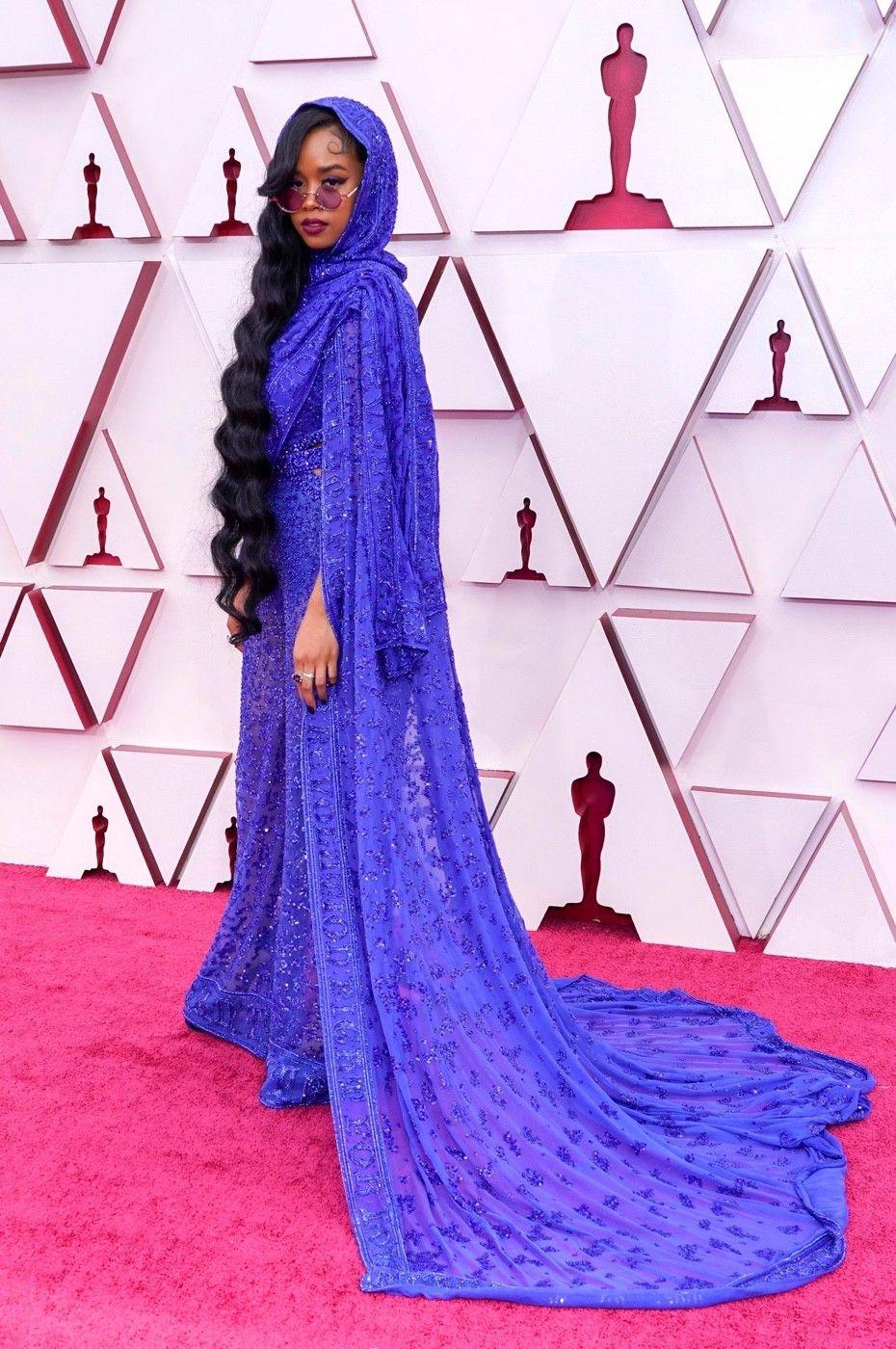 H.E.R. wearing Custom Dundas at the Oscars