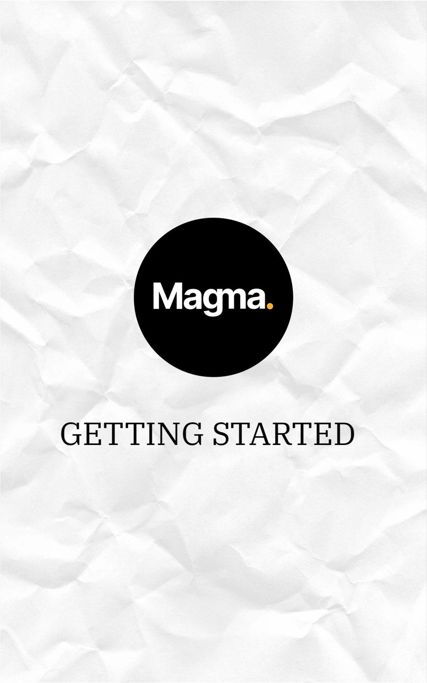 Easy guide to getting started with Magma!